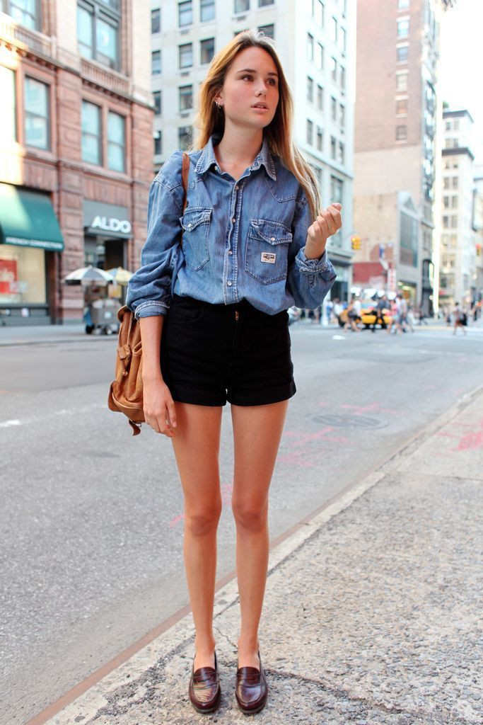 Black shorts outfit women, Casual wear
