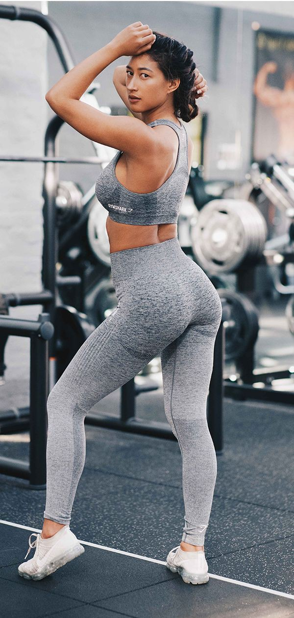 Gymshark ombre seamless leggings grey