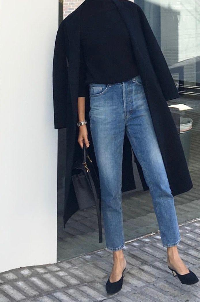 Looks straight leg jeans, Casual wear