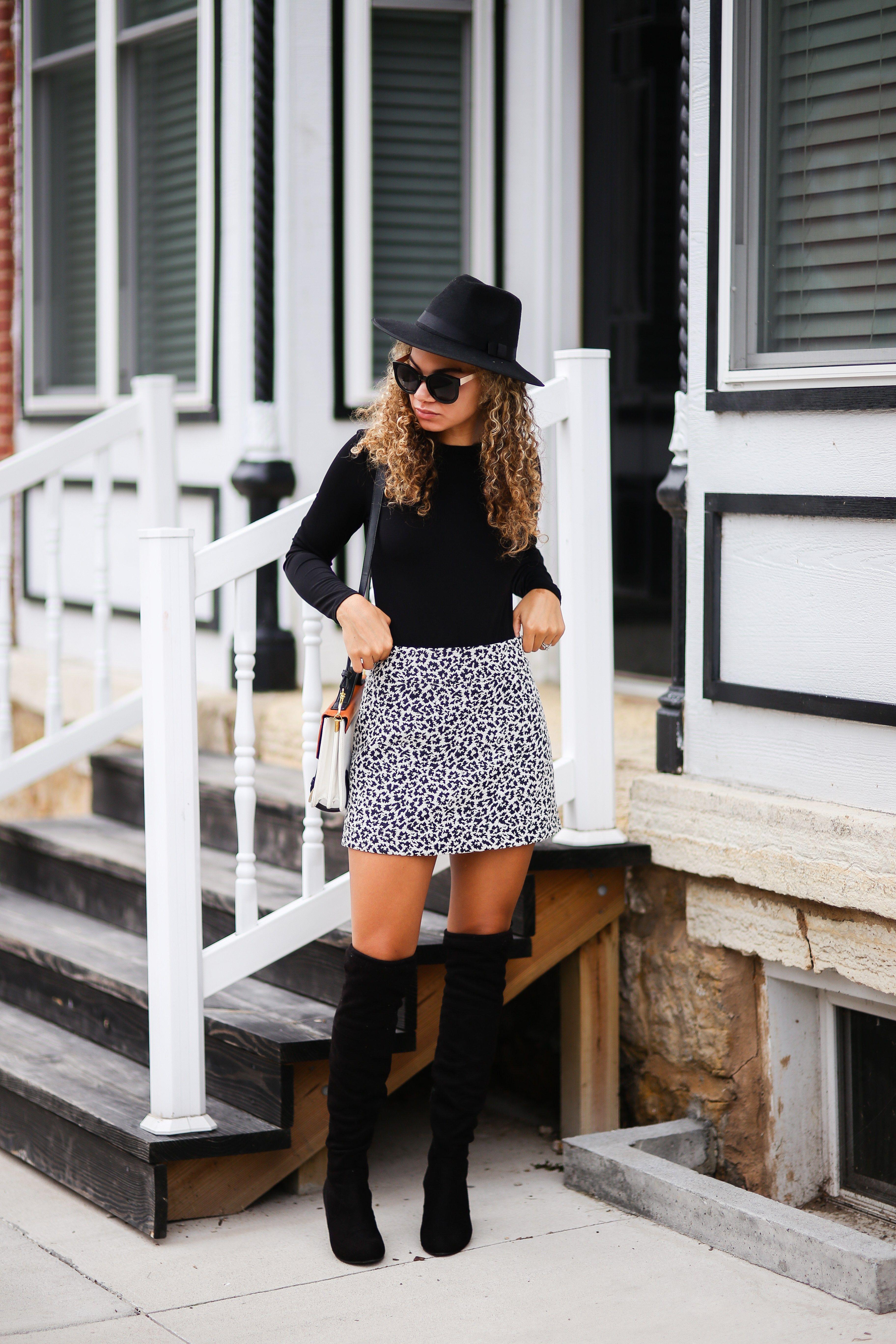 Tweed Wrap Skirts