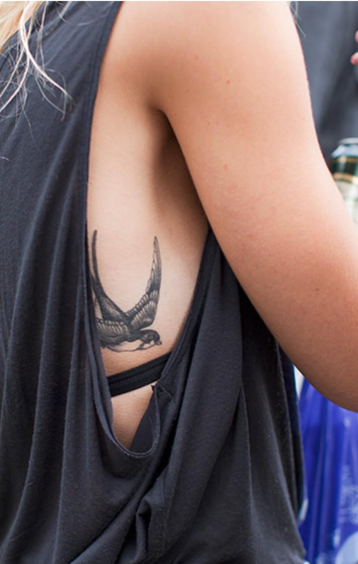 Just for fun ideas bird tattoo ribs, Swallow tattoo