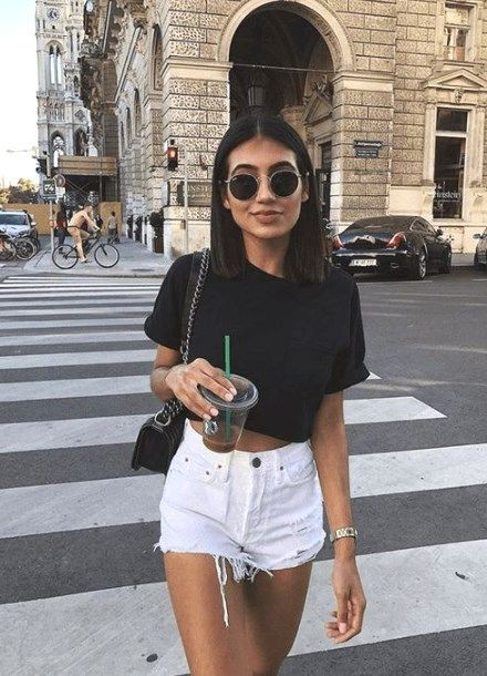 Get this vibrant denim shorts outfits, Casual wear