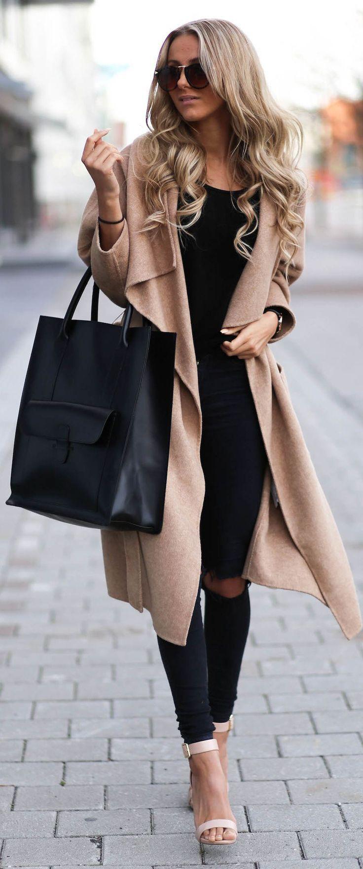 Long coat women outfit, Trench coat