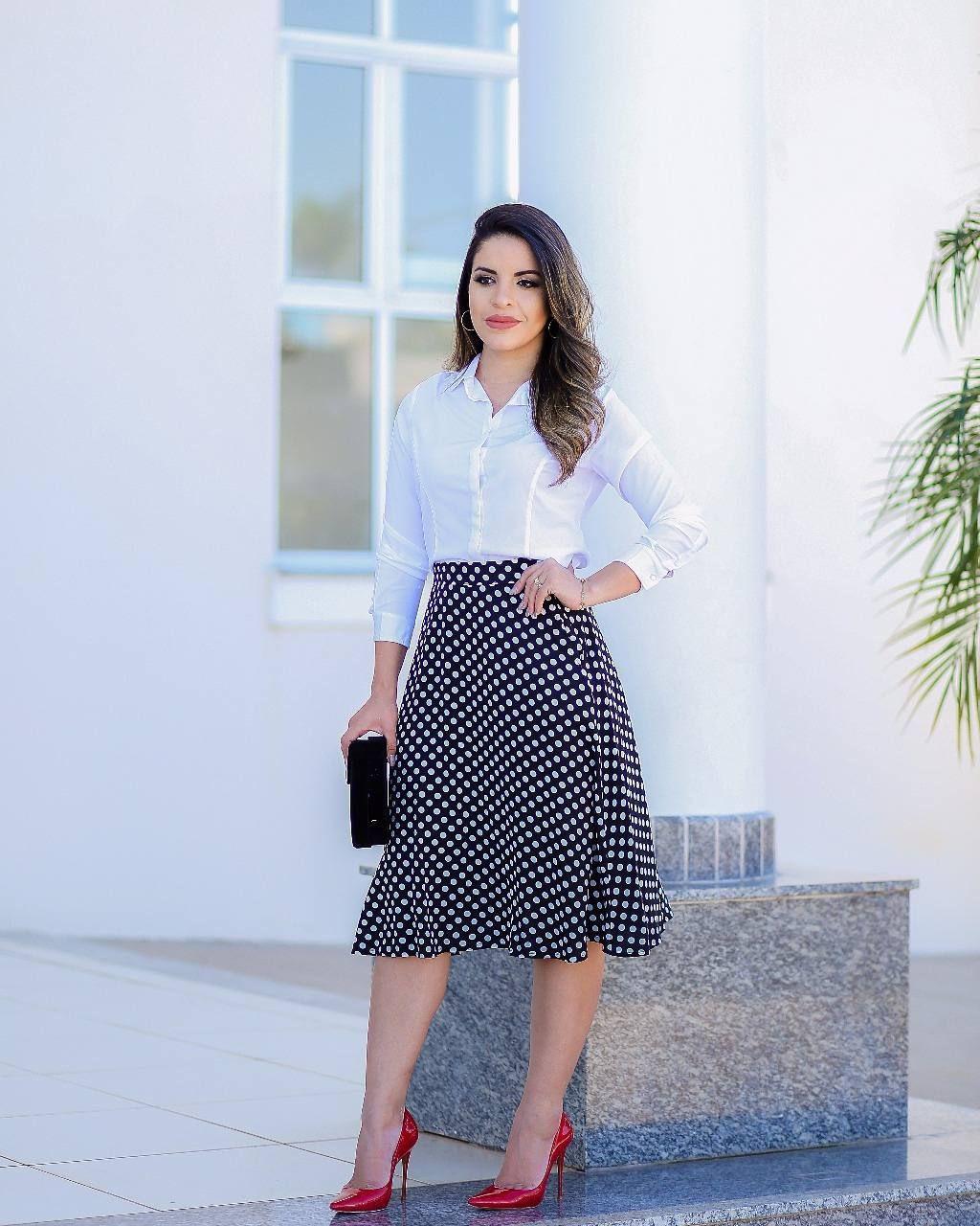 Social feminino conjunto de saia e blusa