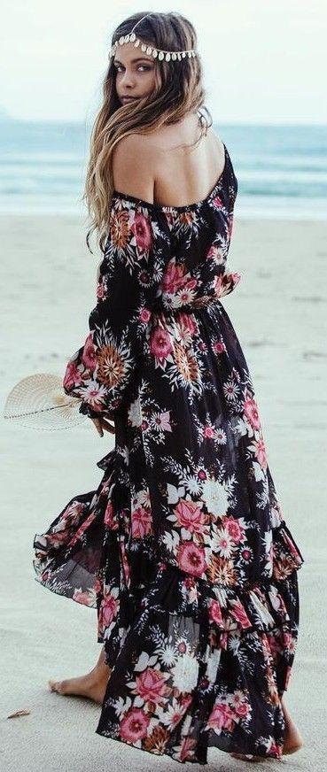 Maxi dress bohemian style, Bohemian style