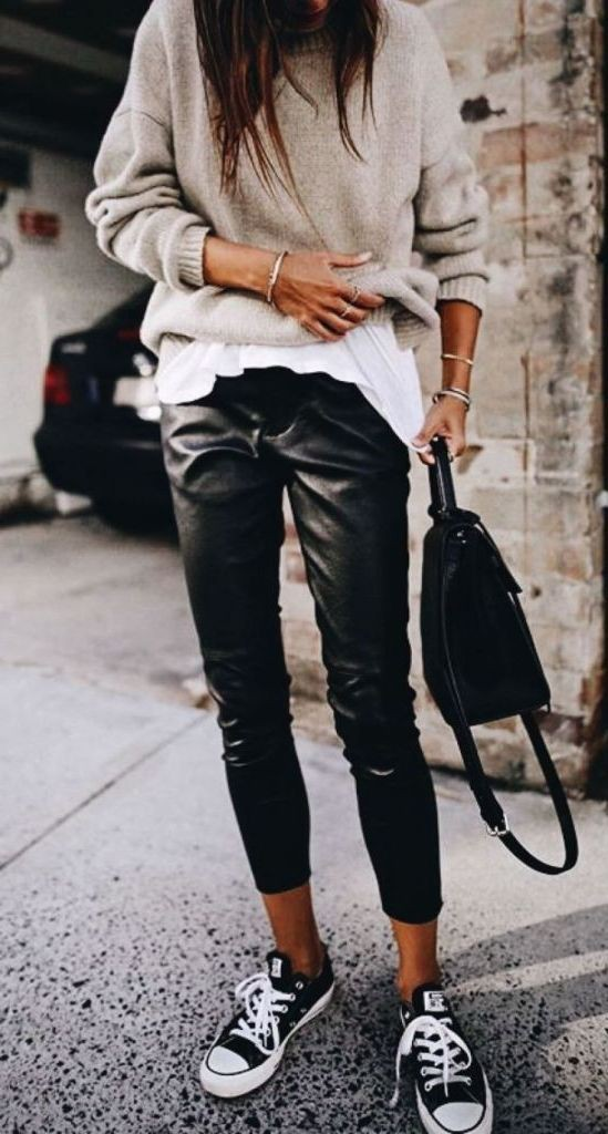 Leather Pant Outfits For Women, Ripped jeans, Slim-fit pants