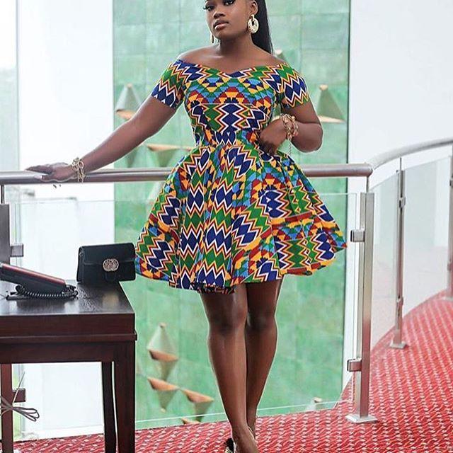 Ankara short flay gown styles