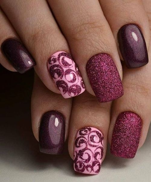 Burgundy Nails, Nail art, Artificial nails