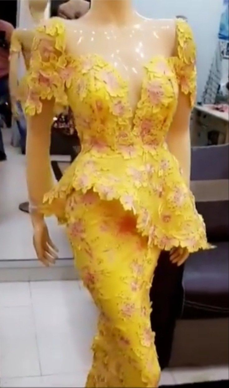 Latest Kaba And Slits Styles, African wax prints, Cocktail dress