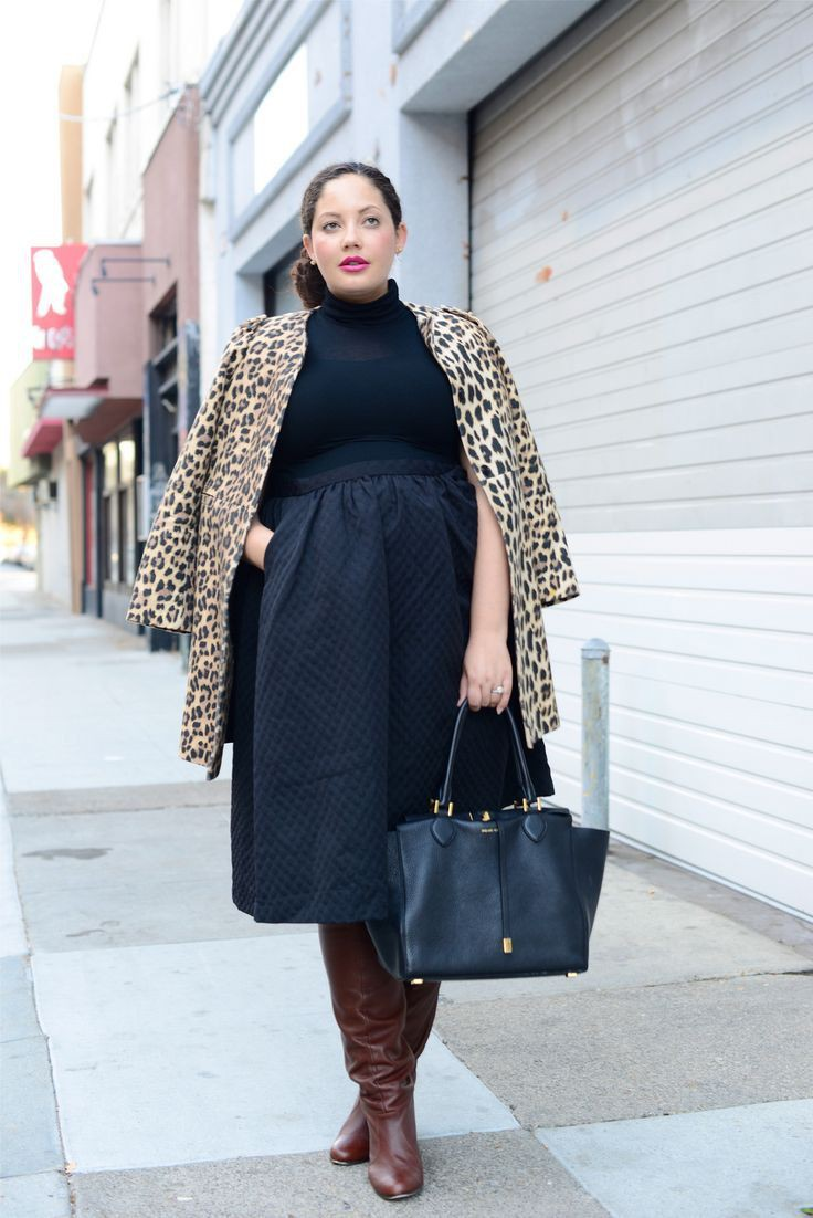 Plus Size Black Workwear Outfits