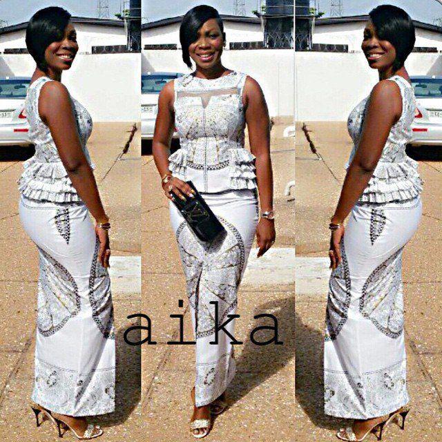 African print kaba styles, Maxi dress