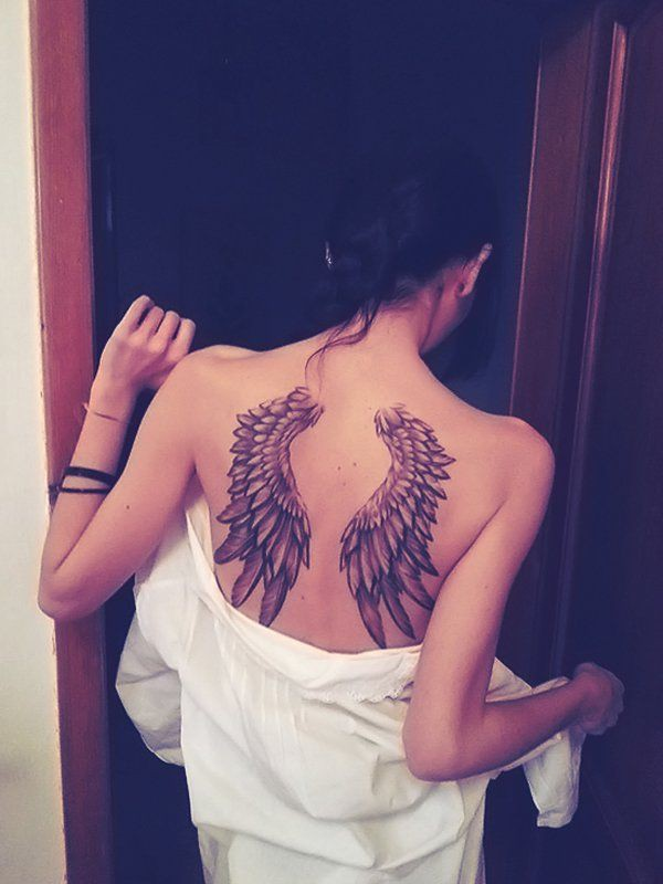 Cool to view wing tattoos girl, temporary tattoo
