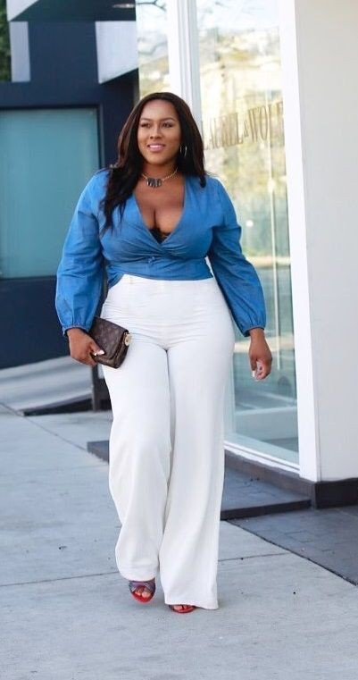 White pants plus size, Plus-size clothing