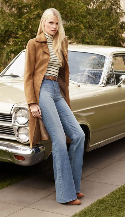 Fashion flared jeans 70s, Vintage clothing
