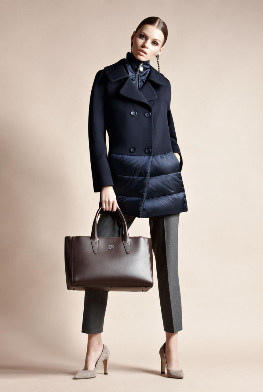 Cute and stylish fashion model, Trench coat