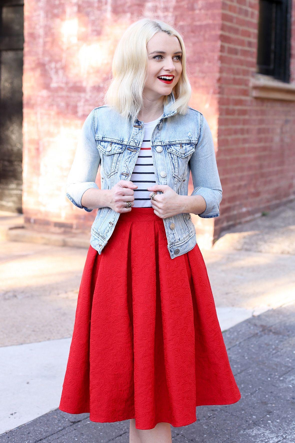 Awesome cool girl red skirt, Skirt Short