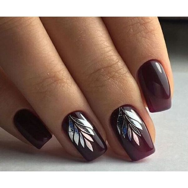 Burgundy Nails, Nail art, Nail polish