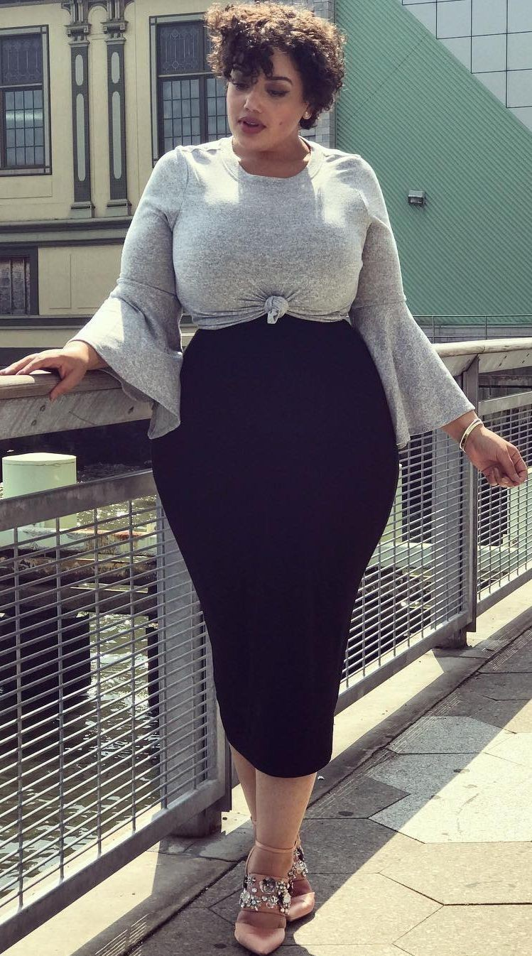 Pencil Skirt Outfit Plus Size, Plus-size clothing, Resort wear