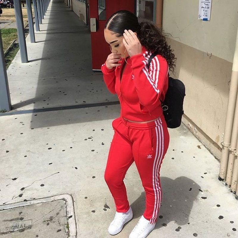 Dope outfit with adidas tracksuit