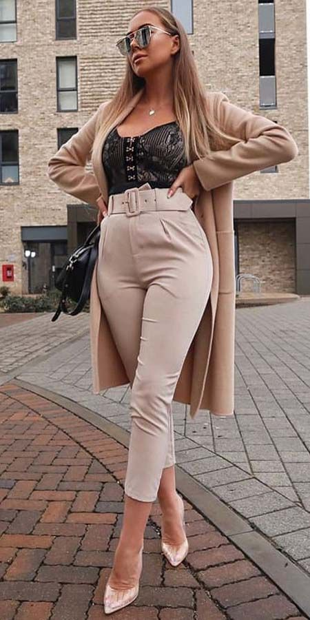 Imminent style ideas for nude trousers outfit, Cargo pants
