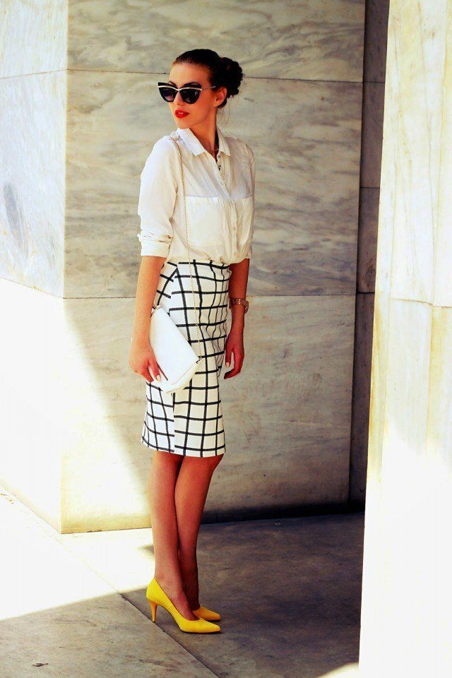 Suggestions for nice and best checkered pencil skirt, Pencil skirt