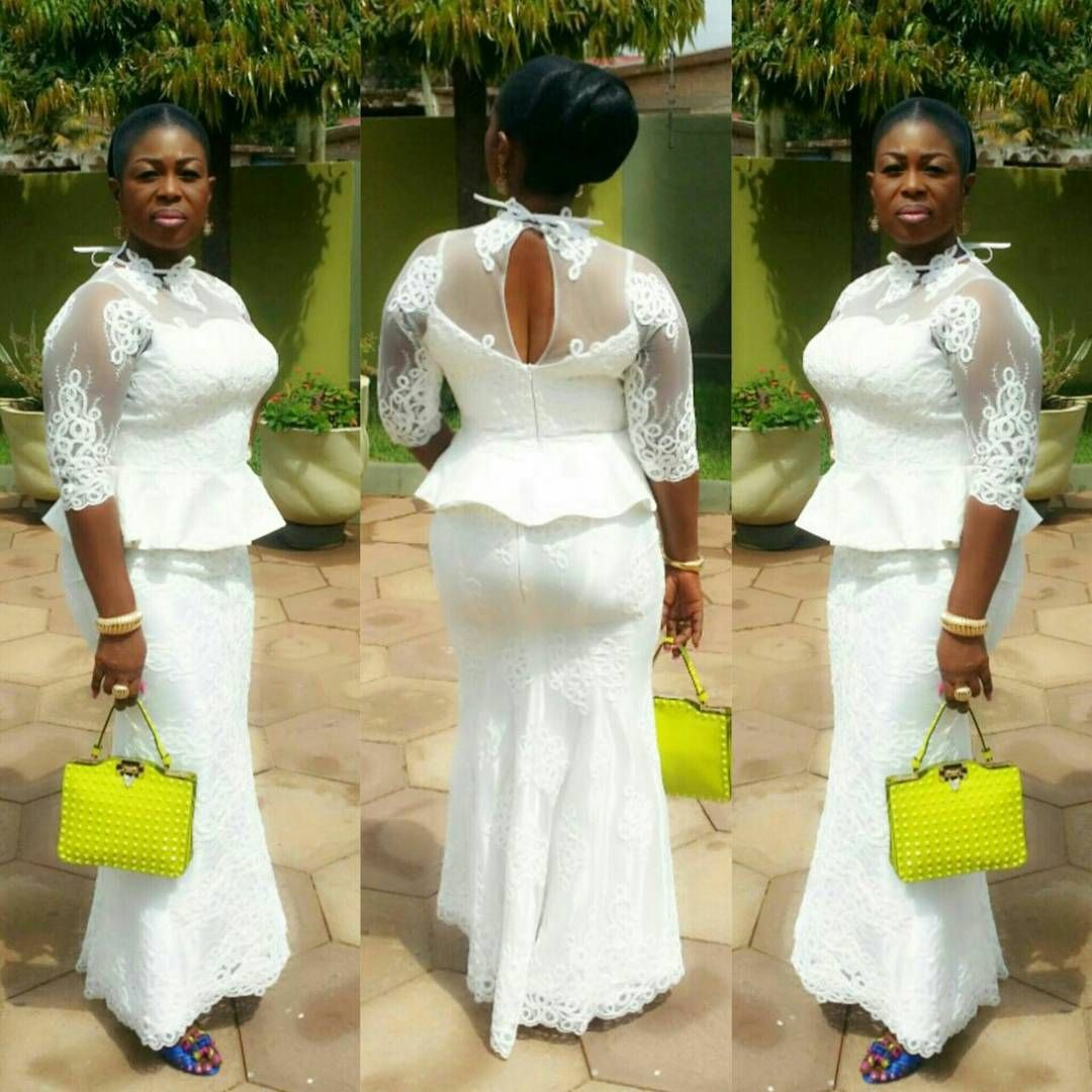 White lace slit and kaba styles