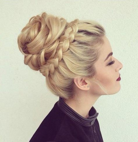 Next century design bun updos, Human hair color