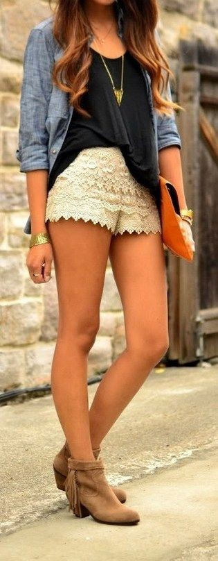 Brilliant outfit ideas about outfits shorts tejido, Jean Shorts