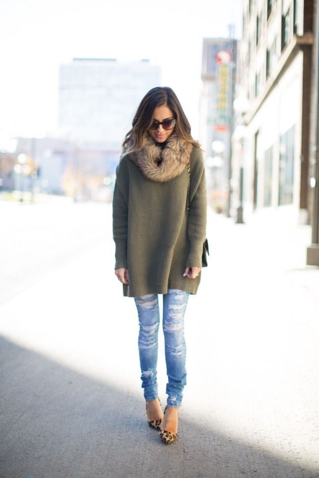 Tunic sweater outfit ideas, Polo neck