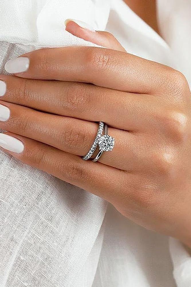 Rocker-style Engagement ring, Wedding ring