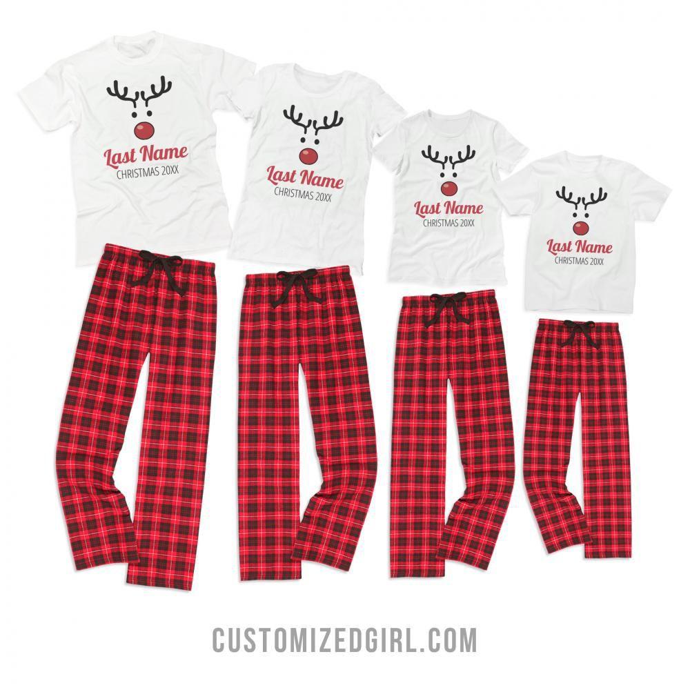 Custom matching christmas pajamas, Christmas Day