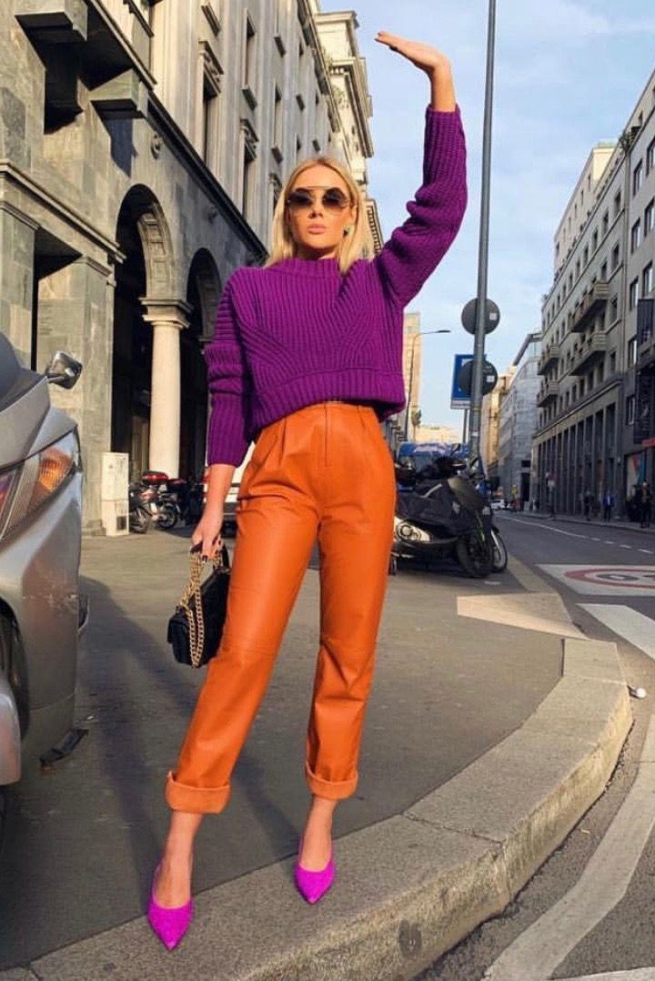 Color block styles spring 2019, Street fashion