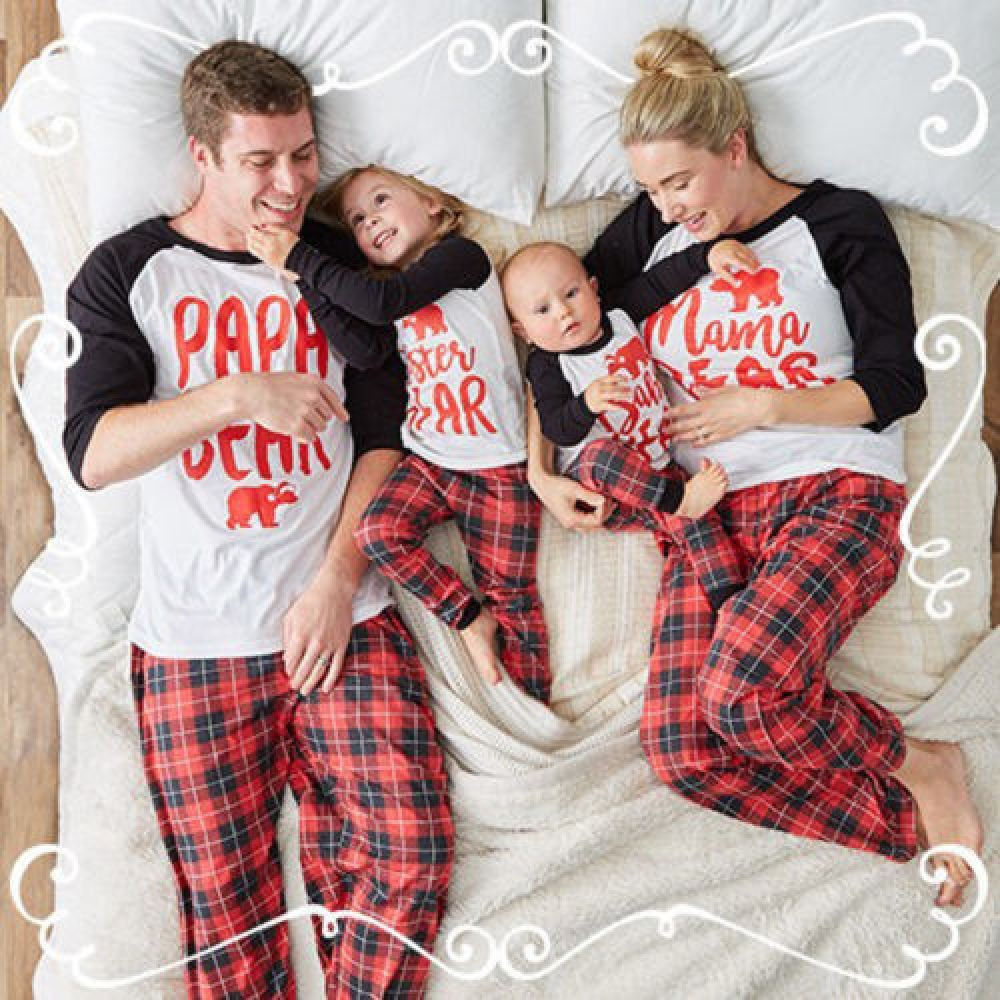 Matching family christmas pjs, Christmas Day