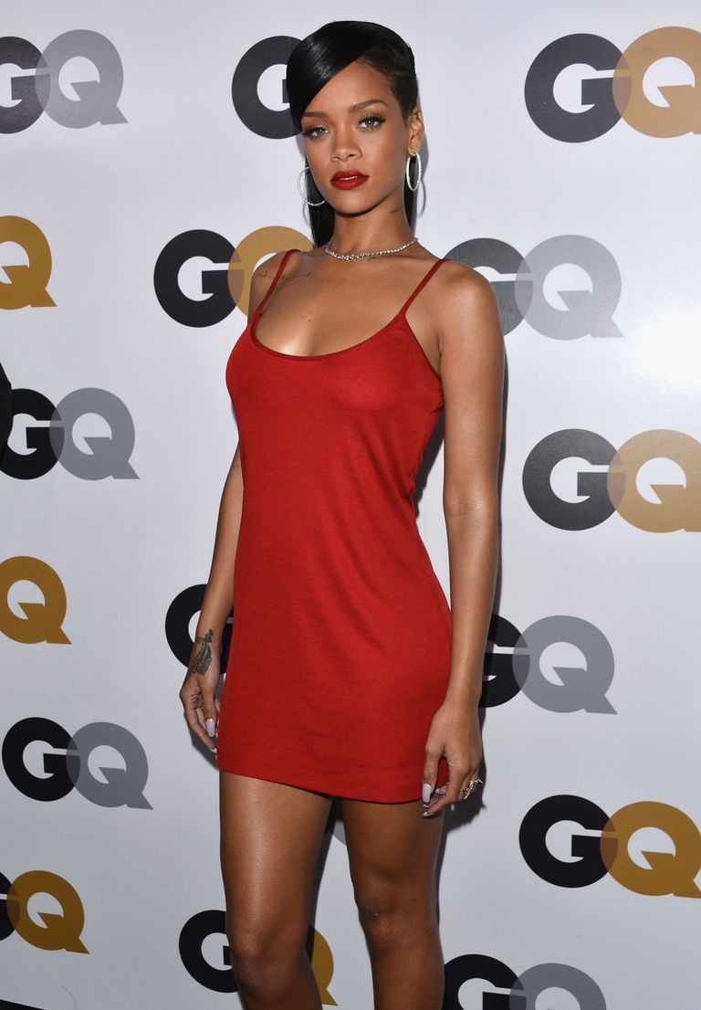 Great outfit ideas for rihanna red dress, 2013 American Music Awards