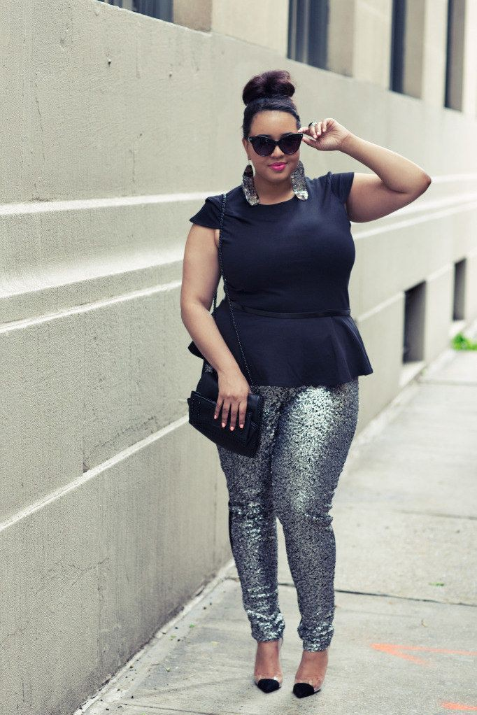 Plus size sequin pants, Plus-size clothing