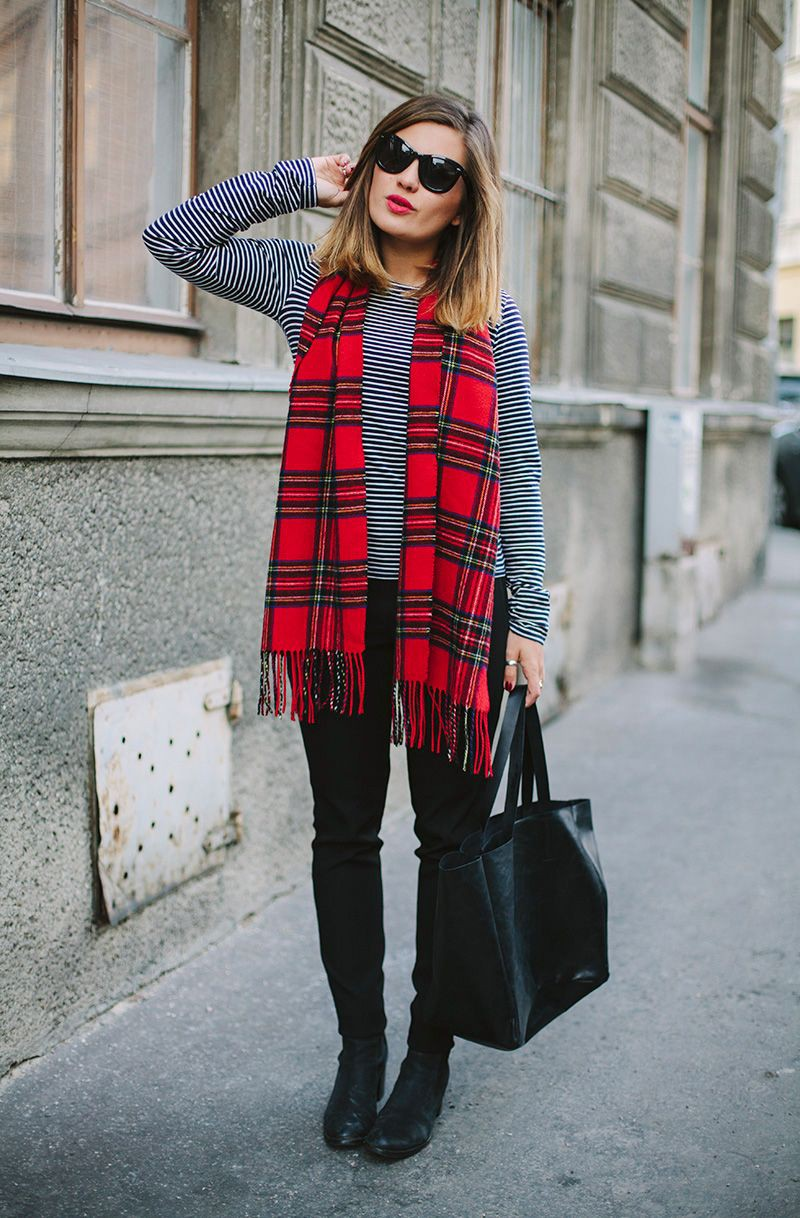 Love the outfit! plaid with stripes, Casual wear