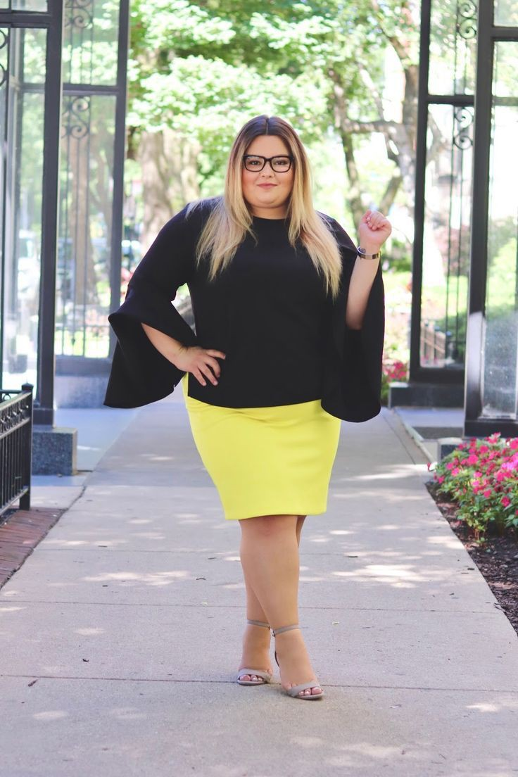 Plus Size Work Outfit, Pencil skirt, Plus-size clothing