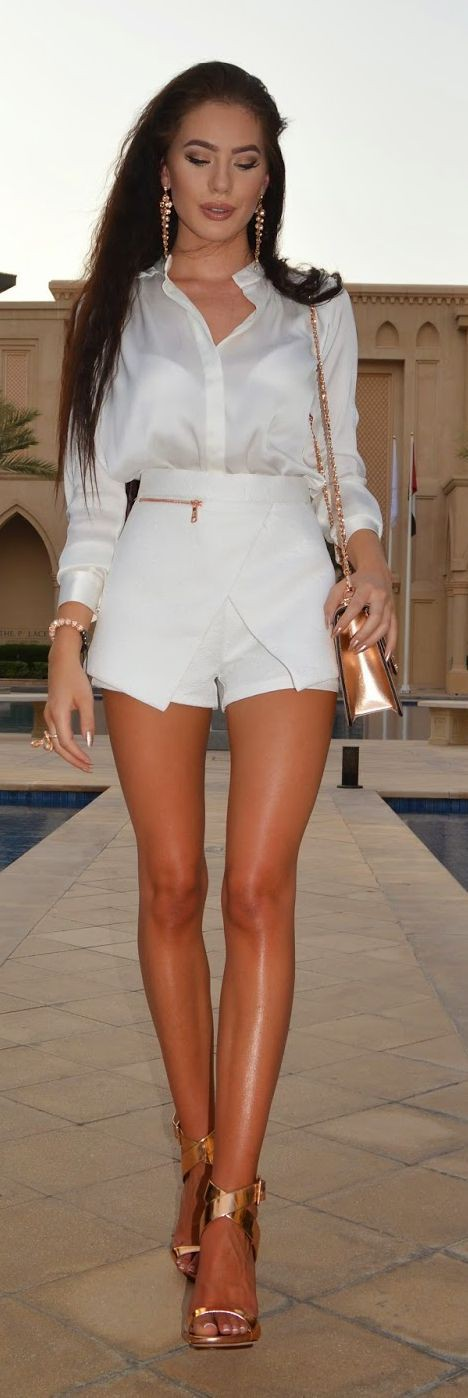Rose gold sandals outfit, Casual wear