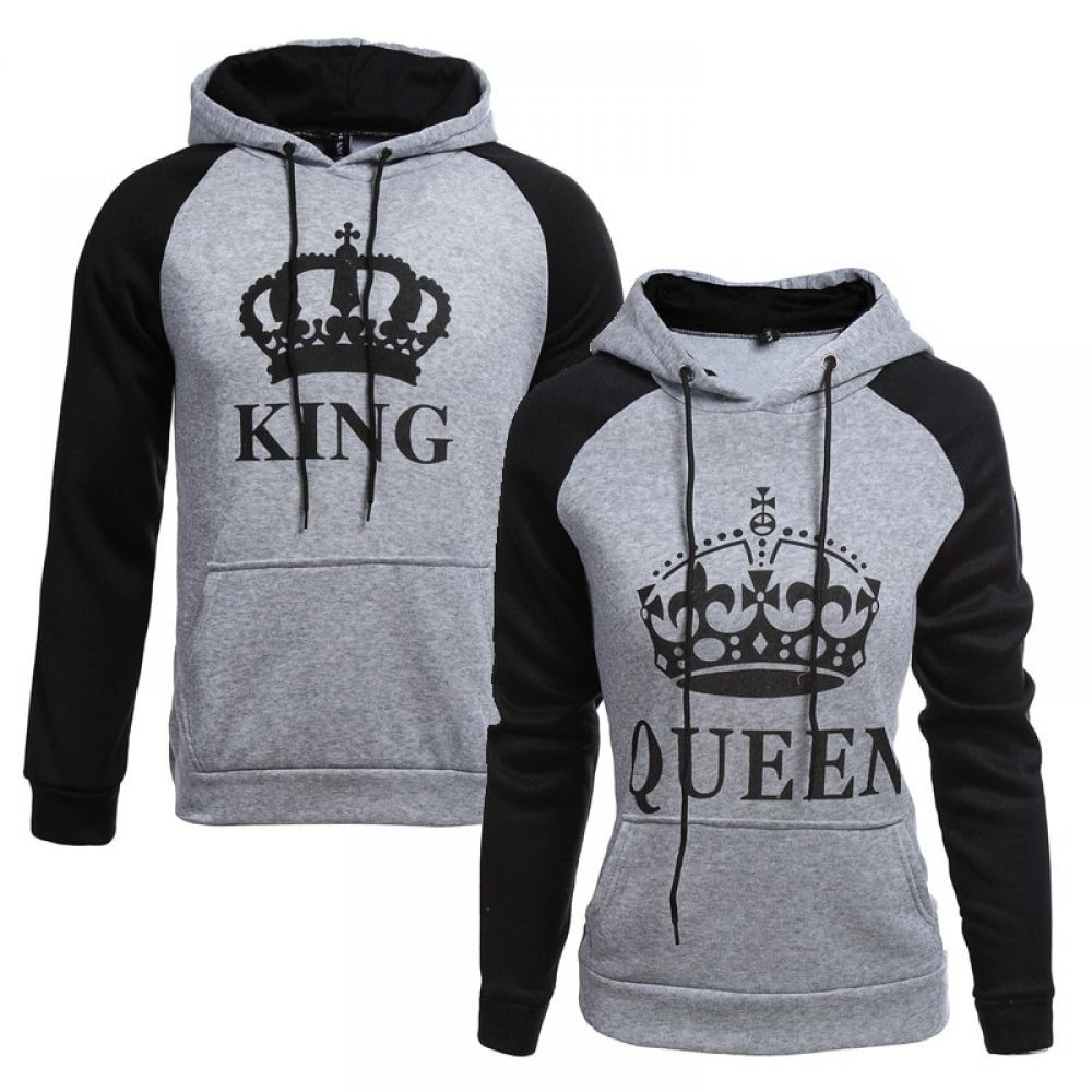 King and queen hoodies, Polar fleece