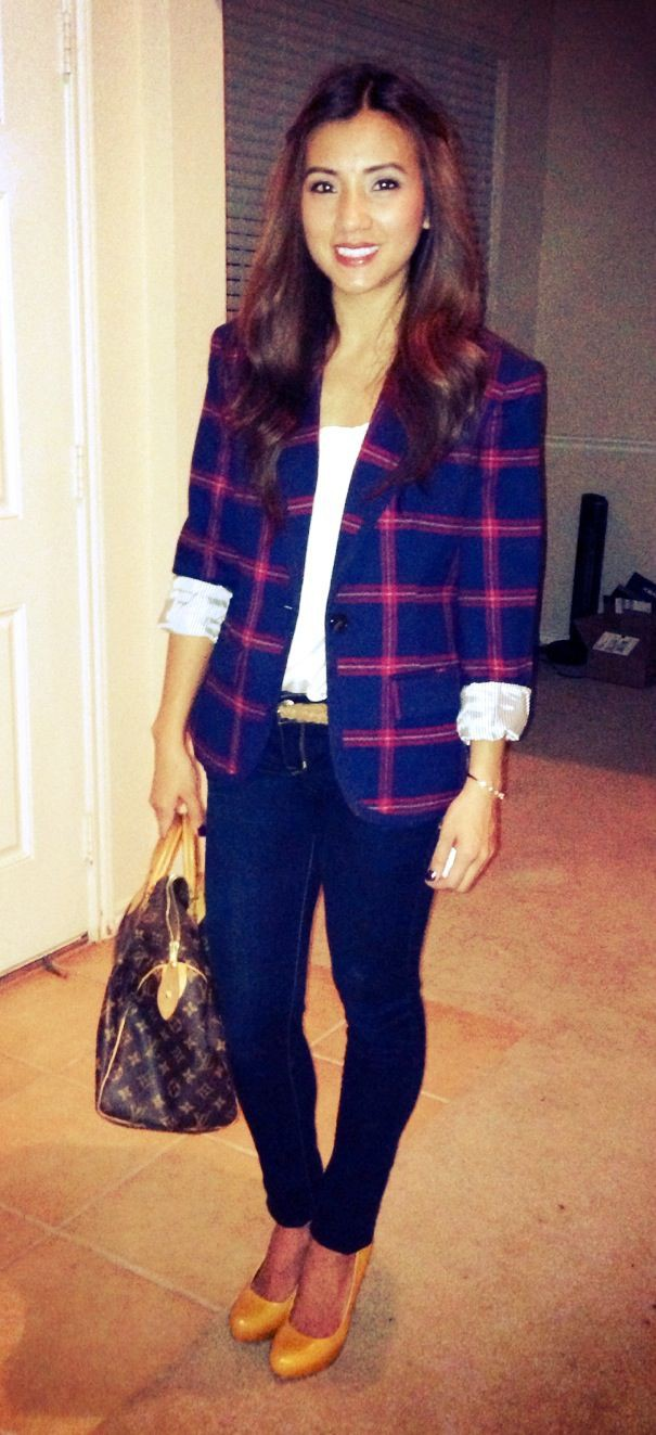 Outfits With Yellow Shoes, Plaid Blazer, Formal wear