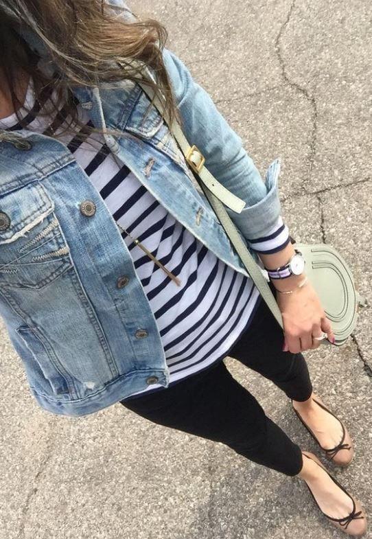 Dark denim jacket outfits, Jean jacket