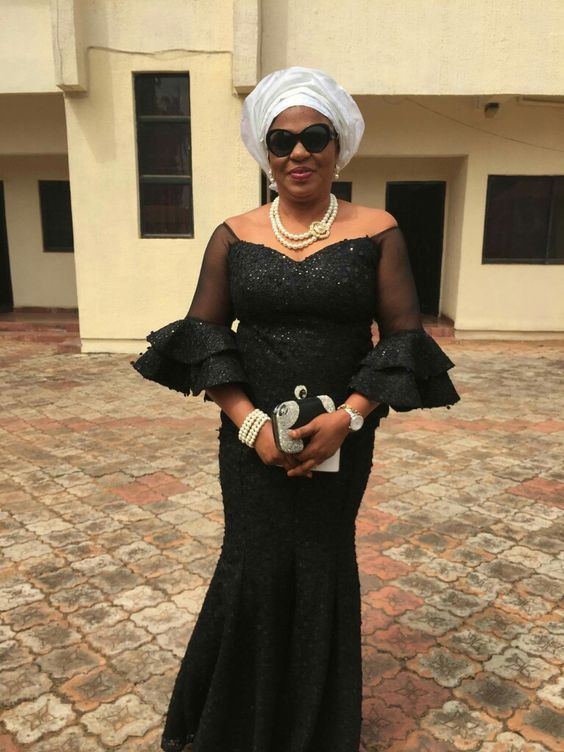 Funeral kaba styles with lace
