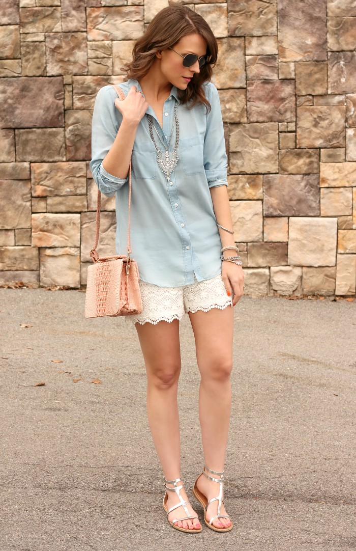 Outfits With Lace Shorts, Knee highs, Casual wear