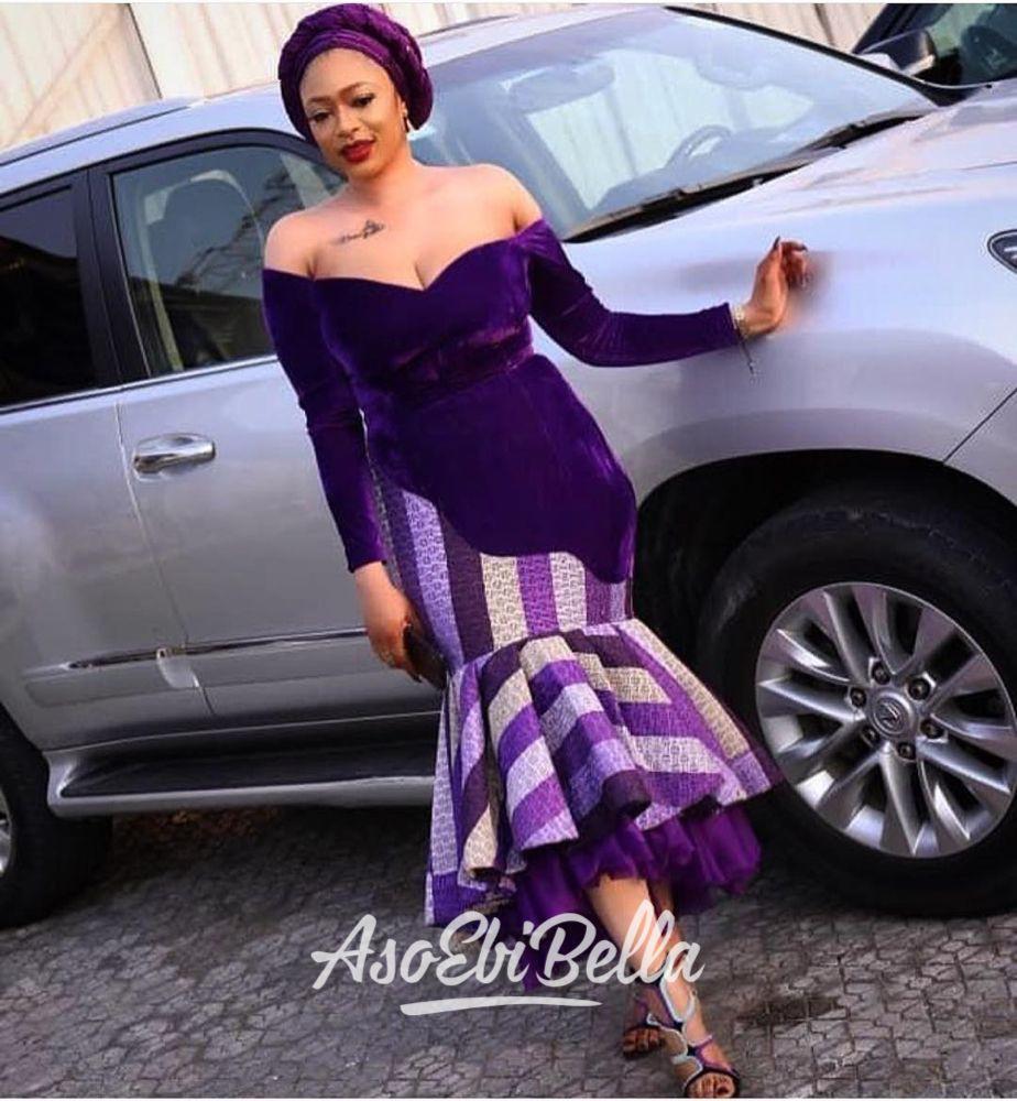 Velvet and ankara styles, Aso ebi