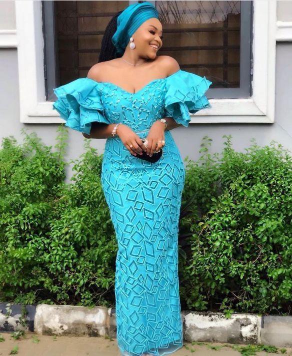 Asoebi lace gown styles, Aso ebi