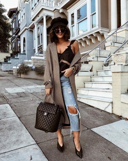 Street Style Outfits For Ladies, 7 for All Mankind, Slim-fit pants