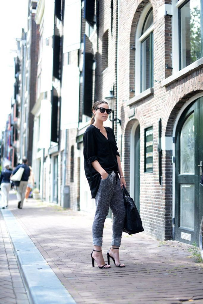 Athleisure Outfits For Women, Black skinny jeans, Slim-fit pants