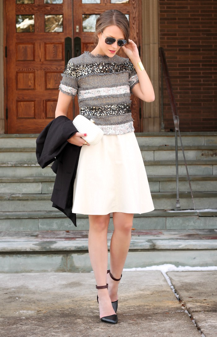 White skirt outfit ideas, Pencil skirt