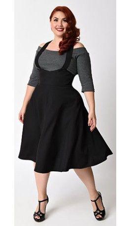 Plus size circle skirt suspender