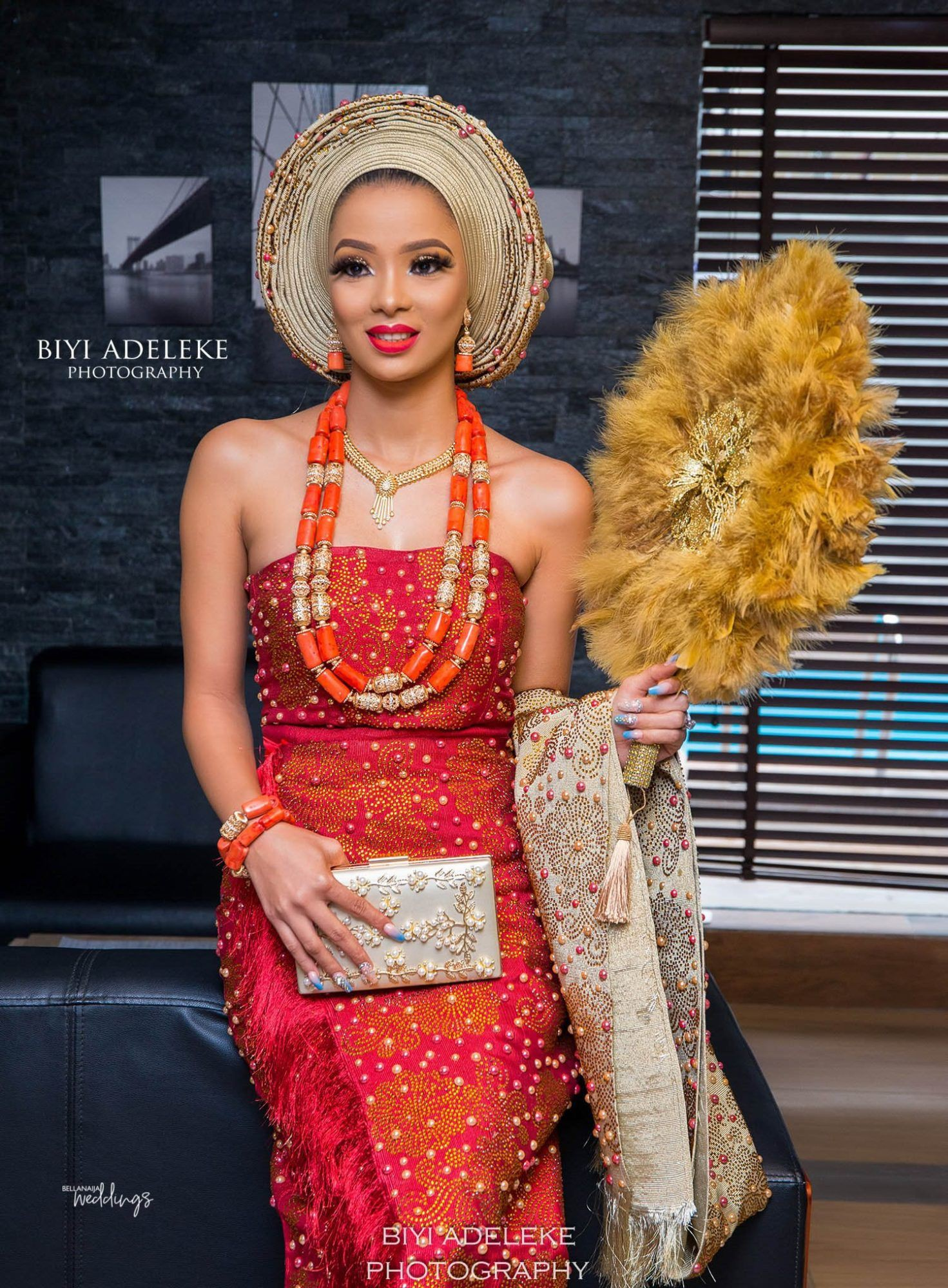 Collections of fashion model, African wax prints